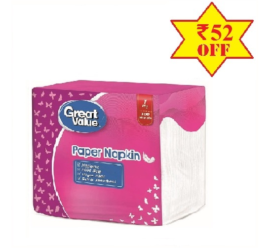 Great Value Paper Napkin 3 Pack