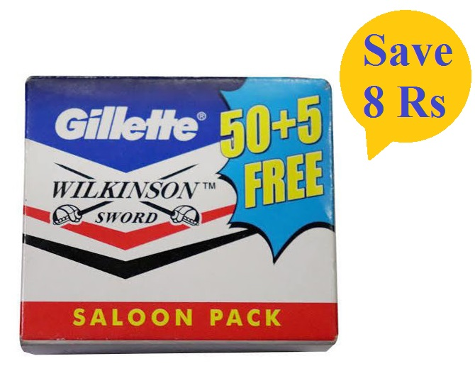 Gillette Saloon Pack 50+5 free