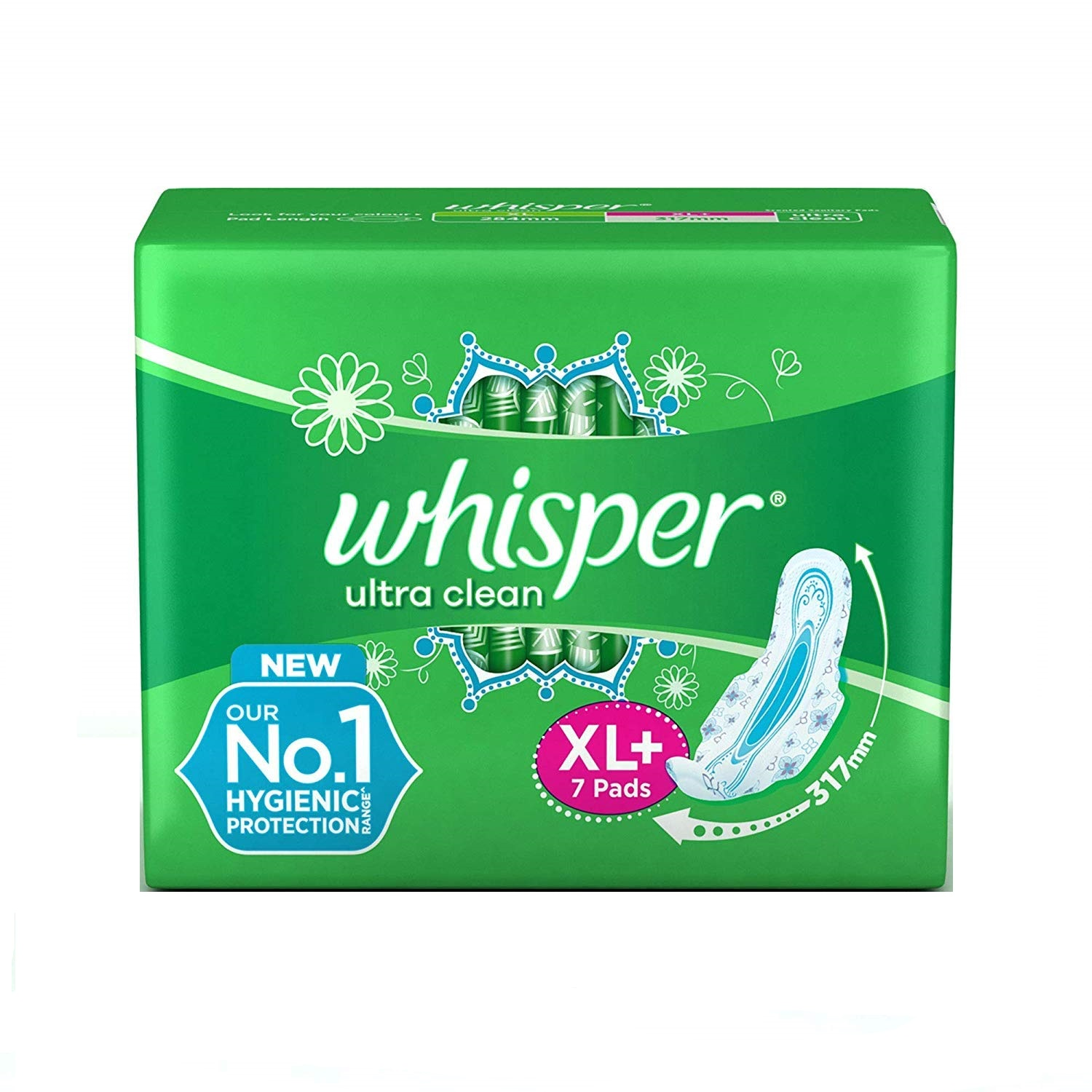 Whisper Ultra Clean XL+ 7 Pads