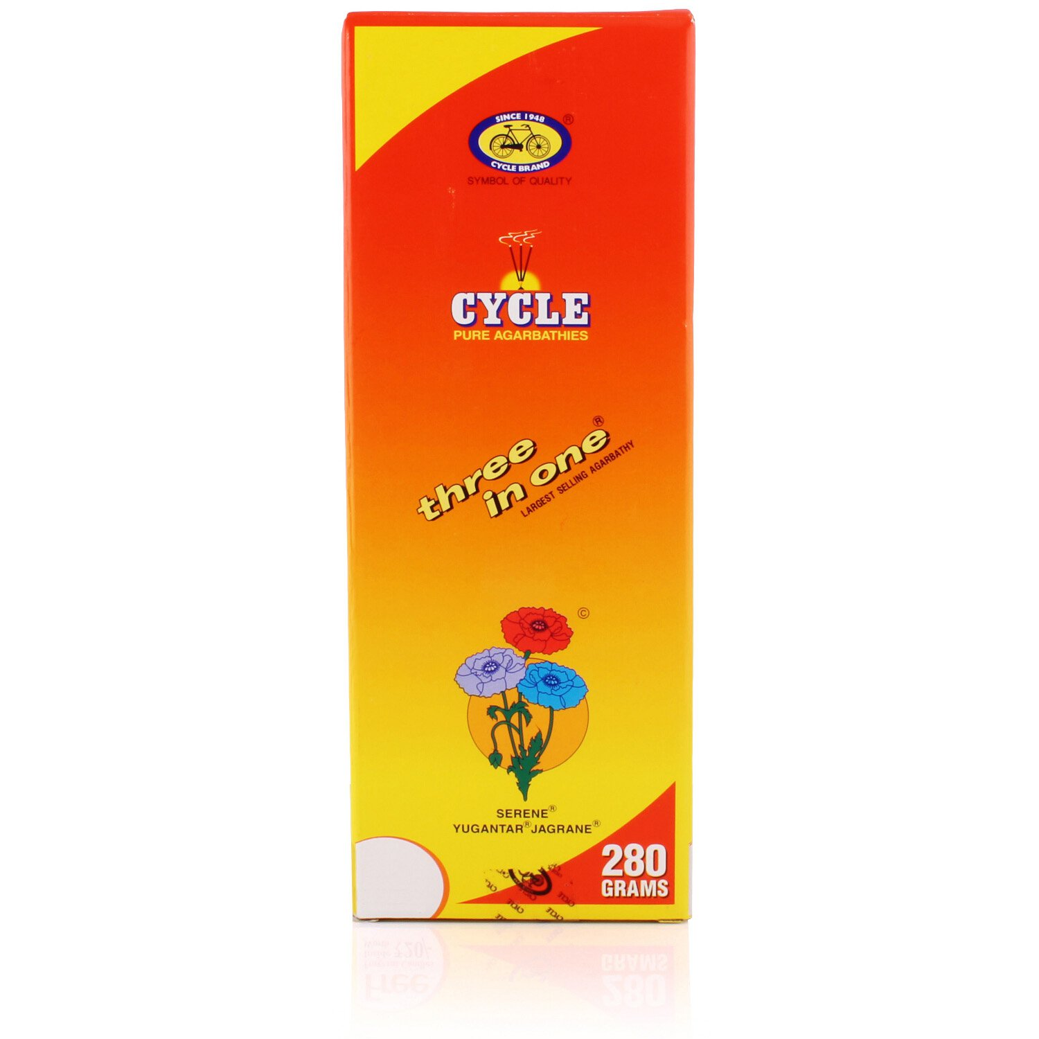 Cycle Agarbatti 3 in 1 Pack 280g