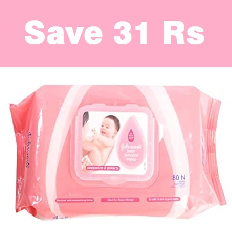 Johnson's Baby SkinCare Wipes 80N