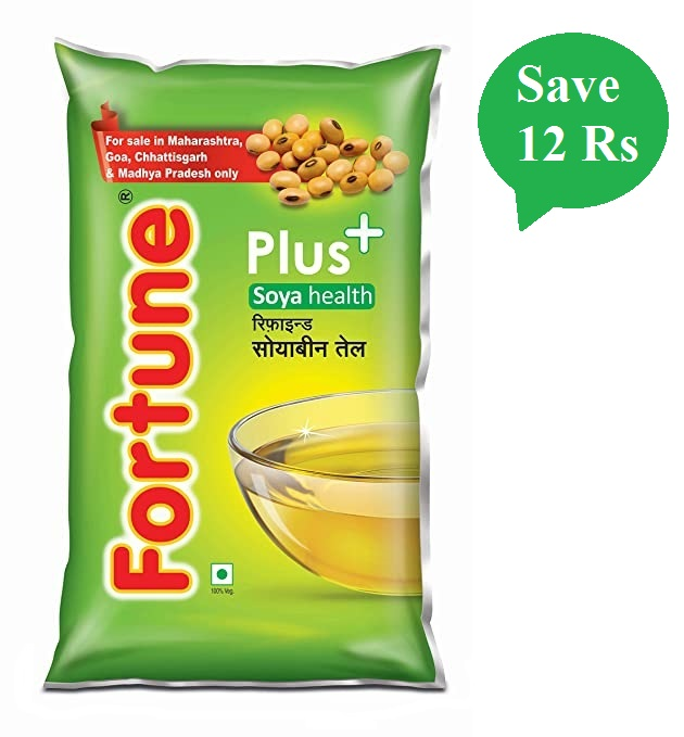 Fortune Plus+ Soyabean Oil 1L Pouch